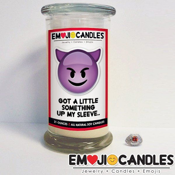 Got A Little Something Up My Sleeve - Emoji Jewel Candle. Add a little fun & personal touch to your gift.. with an Emoji Candle! Yes, the Emojis everyone loves now has a candle that will make everyone smile!