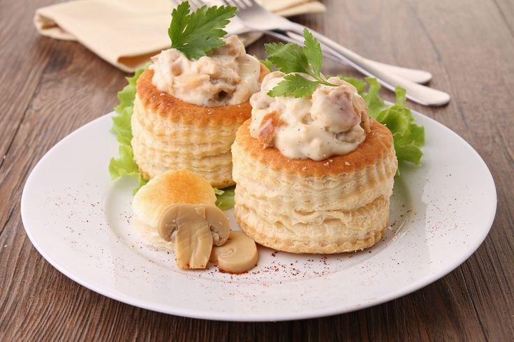 volovanes rellenos de champiñones y queso