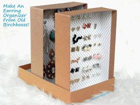 Smart n Snazzy: DIY ~ Upcycled Birchboxes Into Earring Organizer