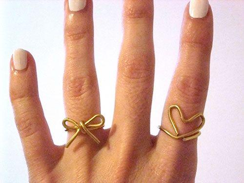 anelli con filo di rame