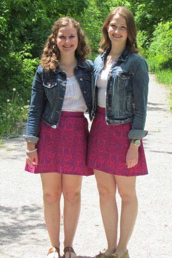 Ruby Razzle Classic Skirt by LighthousesAndLilac on Etsy