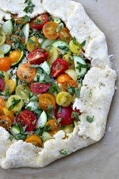 Rustic Tomato Tart via @RecipeGirl {recipegirl.com}