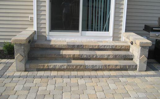how to build steps out of pavers