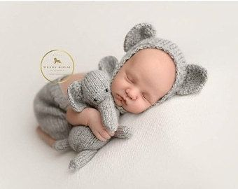 Newborn Crochet Outfit Elephant Outfit Newborn by AtTheLilyPond
