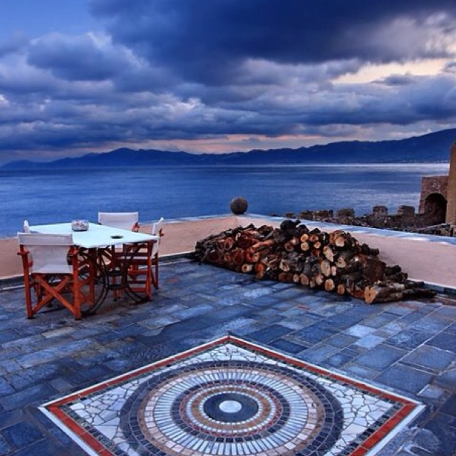 Balcony in Monemvasia, Greece