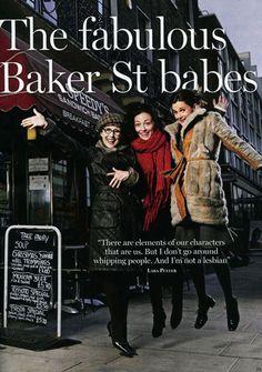 Sherlock. Mrs. Hudson (Una Stubbs), Irene Adler (Lara Pulver), Molly Hooper (Louise Brealey)