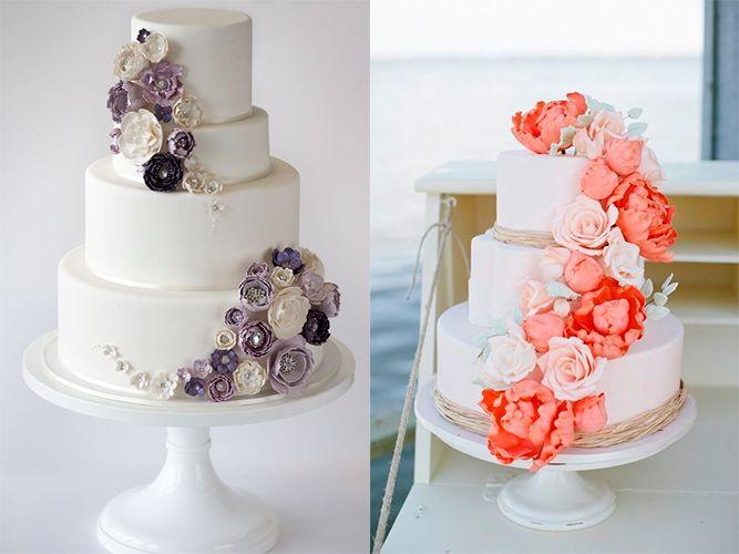 Идеи дизайна торта для весенне-летней свадьбы (фото)