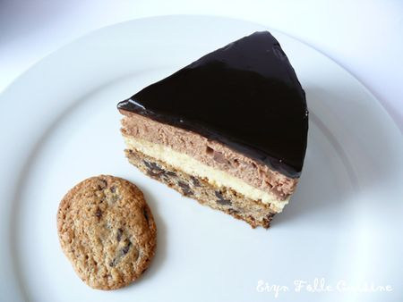 Le Giant Cookie, Mousse Vanille & Chocolat