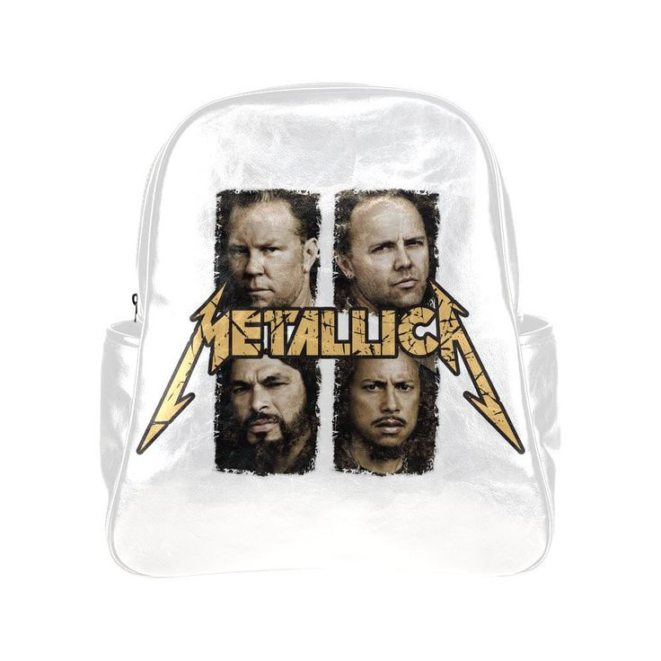 CP-FEED Metallica Band Logo Unisex Multi Pocket Shoulders Backpack