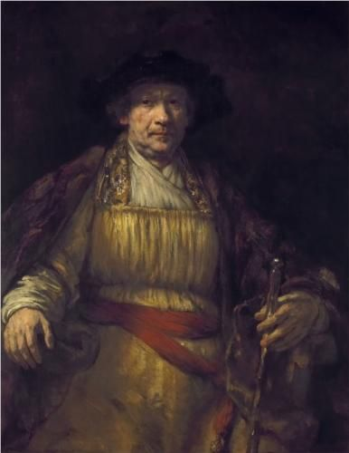 Self-Portrait - Rembrandt.  1658.  Oil on canvas.  133 x 103.8 cm.  The Frick Collection, New York City NY, USA.