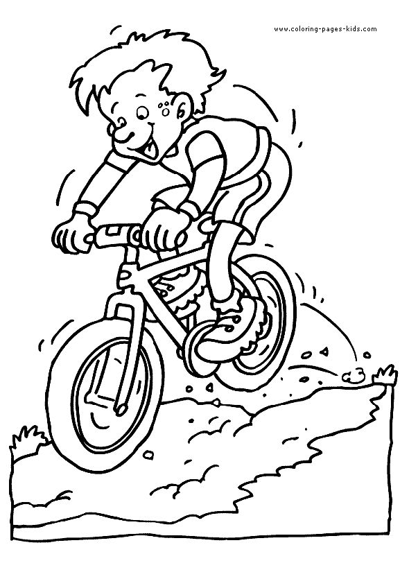 mountain bike coloring picture for kids - Bicycle Coloring Book