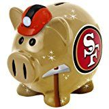 NFL San Francisco 49ers Resin Large Thematic Piggy Bank