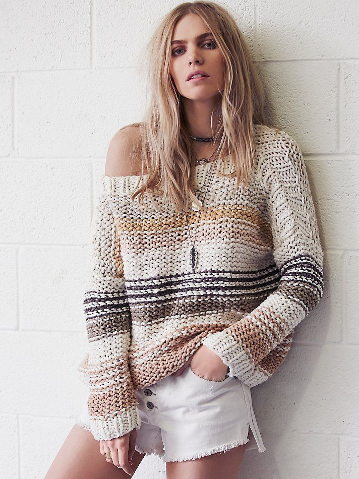 Free People Awash in Stripes Pullover at Free People Clothing Boutique