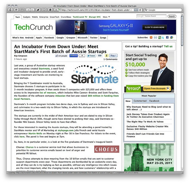 We mentor where our market is: Startmate - Techcrunch coverage