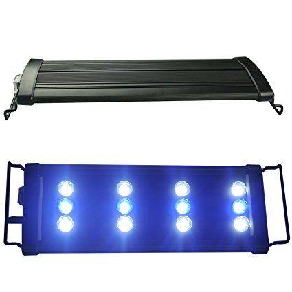 Acquari Eco Acquario Heads luce illuminazione LED spia di pesce Tank Blu + Bianco proiettore per acqua di mare Acqua Dolce
