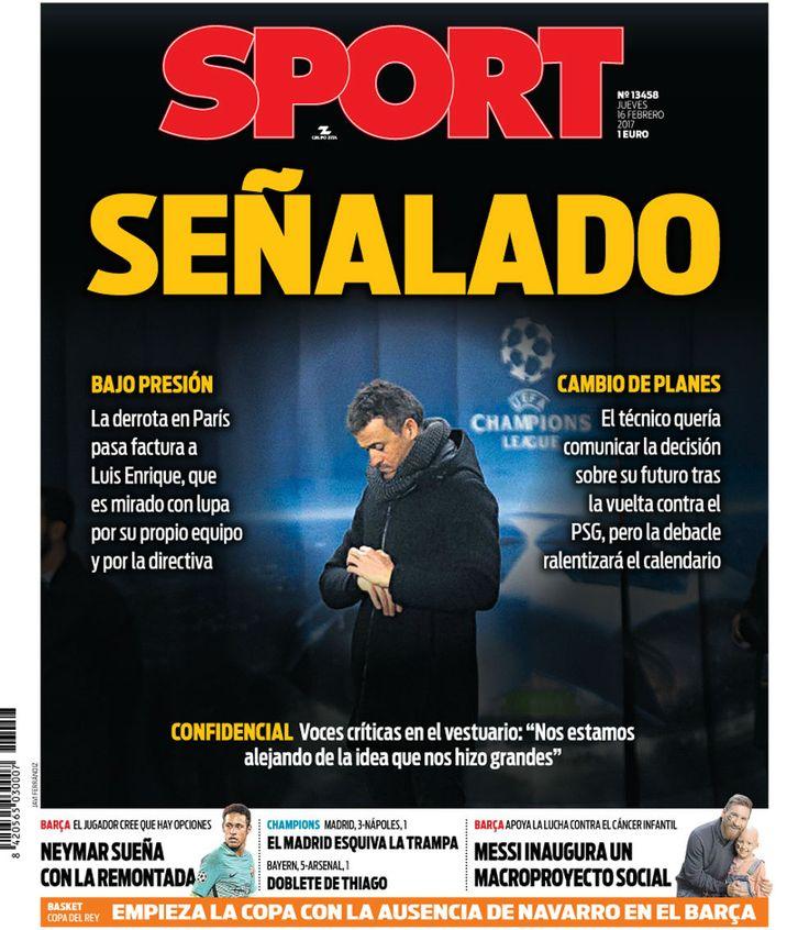 La portada de hoy de SPORT