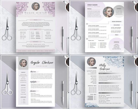 Floral Resume Template Flower Cv Template Purple Hydrangea Flower Resume Template Creative Cv Template Purple Resume Template Design Modele De Cv Creatif Modele Cv Creative Cv Template