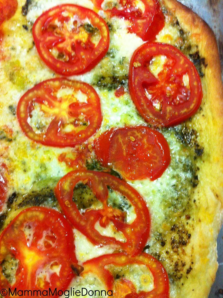 Pizza al pesto   MammaMoglieDonna