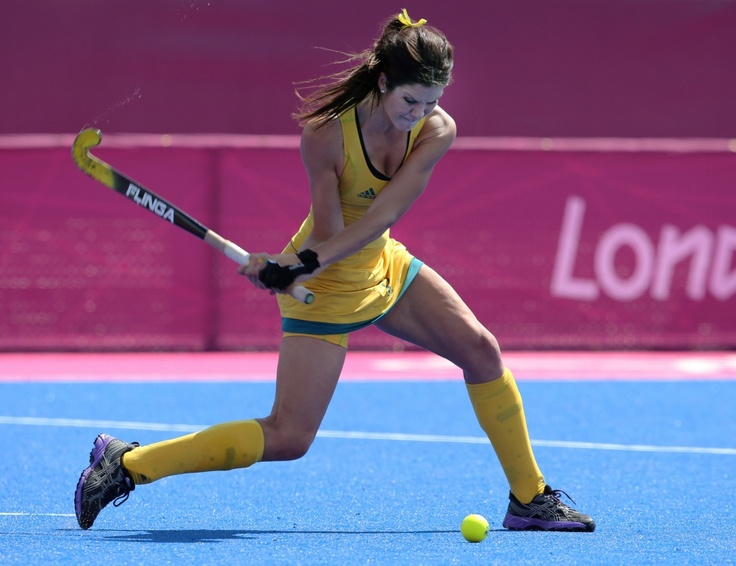 Anna Flanaghan scored for the Hockeyroos against England in the Investec Challenge in Cape Town yesterday