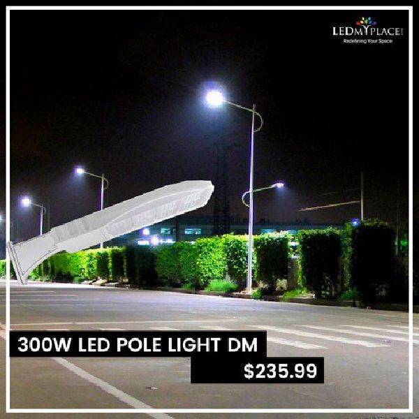 Led Pole Light 300 Watt White 5700k Dm Can Replace Those Metal Halide And Can Make A Noticeable Dif Led Parking Lot Lights Energy Saving Lighting Led