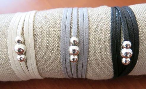 Bracelet lien 3 boules