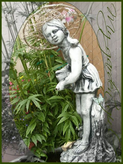 YARDEN COLLECTIONS: My garden girl, kennelworth ivy and valarian.