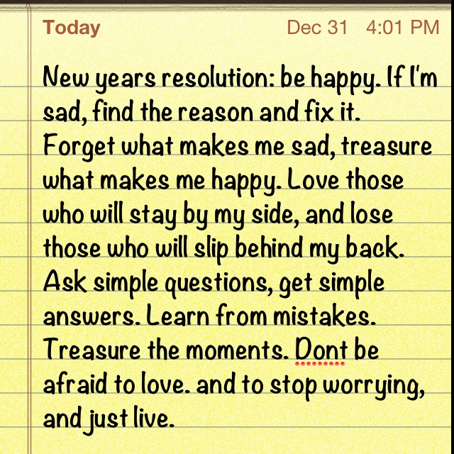 New years resolution. What's yours?
