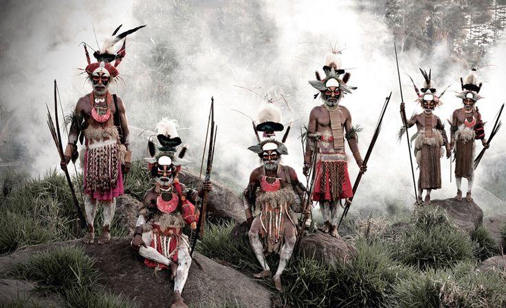 Huli im Hochland von Papua-Neuguinea