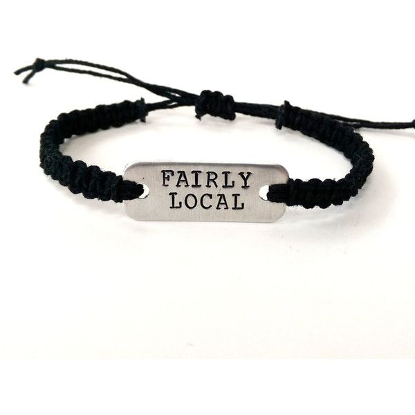twenty one pilots kitchen sink stamped bracelet adjustable hemp... ($13) ❤ liked on Polyvore featuring home and home improvement