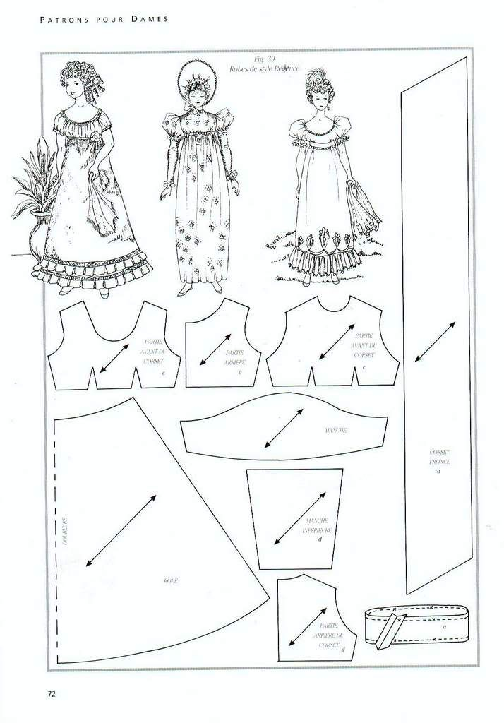 Foro de casas de muñecas y miniaturas :: Ver tema - Patrones de vestidos: Patterns, Doll Patterns, Cute Dolls, Dresses, Barbie Dolls Dresses Patterns, Ag Dolls, Dolls Clothing Patterns, Dolls Patterns, De Muñeca