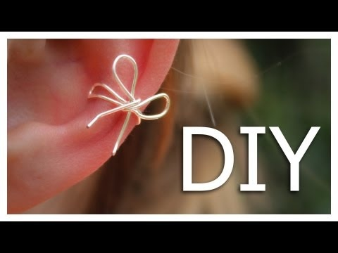 DIY Ear Cuff. <---- Going to try this!!....some day! lol