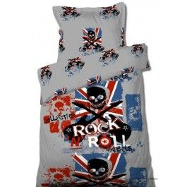 housse de couette 140x200 rock n roll rebels 2 taies 63 63 100 polyesterp boutiques. Black Bedroom Furniture Sets. Home Design Ideas