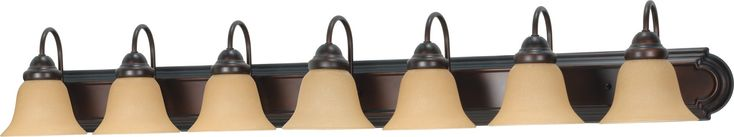 Wall Mounted Vanity Light Bar in Mahogany Bronze Finish