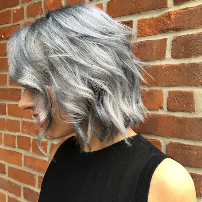 I achieved this multi dimensional silver using AVEDA color. It's a modified version of one of Ian Michael Blacks grey/silver toner formulas. #ELC #1N and a whole lot of other tones in the mix. LOVE!!