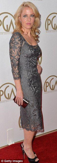 Gillian Anderson + dress