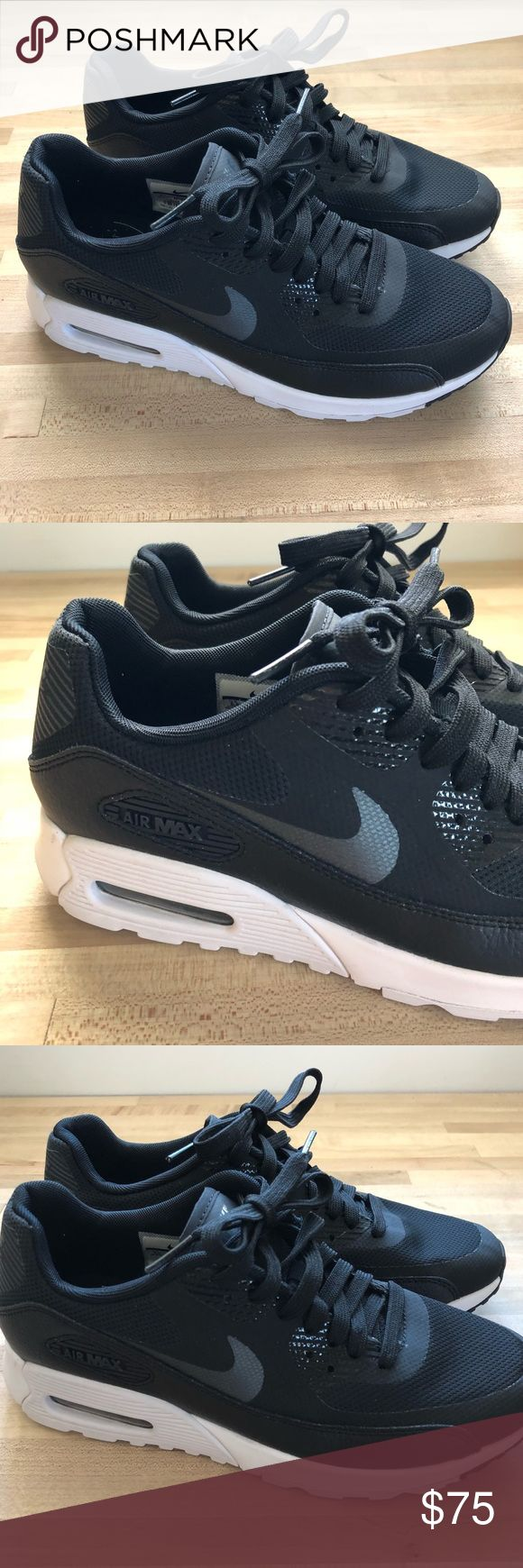 Nike Women's Air Max 90 Ultra 2.0 Running Sneakers Excellent pair of women's Nike Air Max in pristine condition they fit small wore three times | clean and ready to be shipped | no box | to me they run small I wear a 6.5 but they were definitely snug Nike Shoes Sneakers