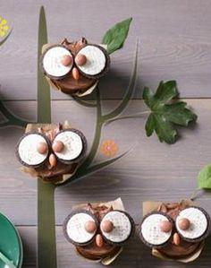 Die lassen nicht nur Kinderherzen höher schlagen: Süße Eulen-Muffins http://kochen.gofeminin.de/rezepte/rezept_eulen-muffins_336470.aspx (Chocolate Cheesecake Muffins)
