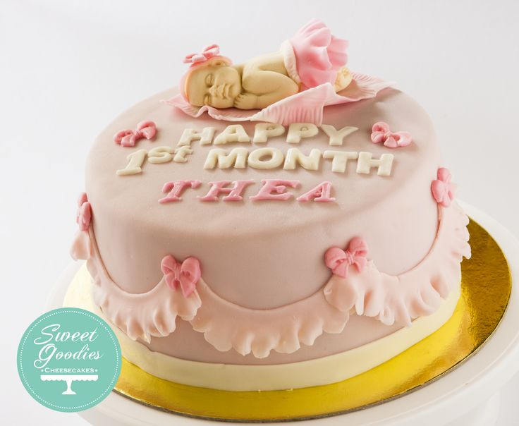 First Month Cake for Baby Thea.