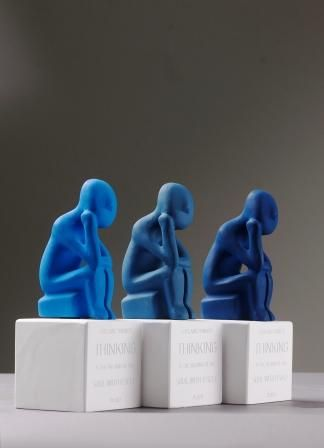 Cycladic Thinkers. Colors: Lapis, Royal, Midnight Blue.