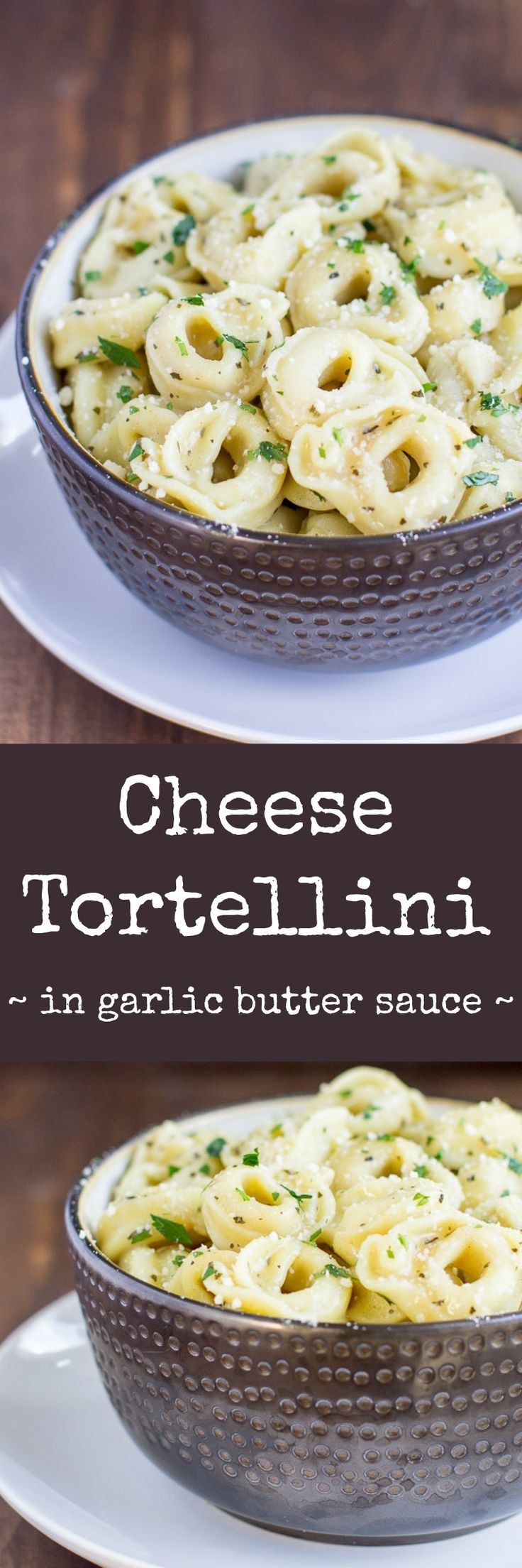 Piping hot Cheese Tortellini served in a delicious garlic butter sauce. It's simple yet special, an easy appetizer or main dish that everyone will love!