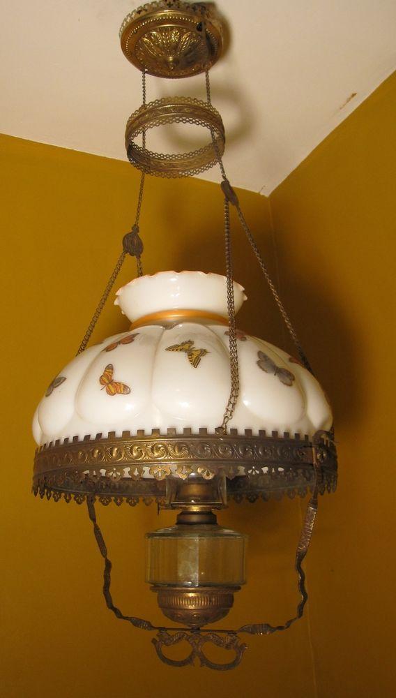 antique 1800 s ornate bronze working ceiling oil burning
