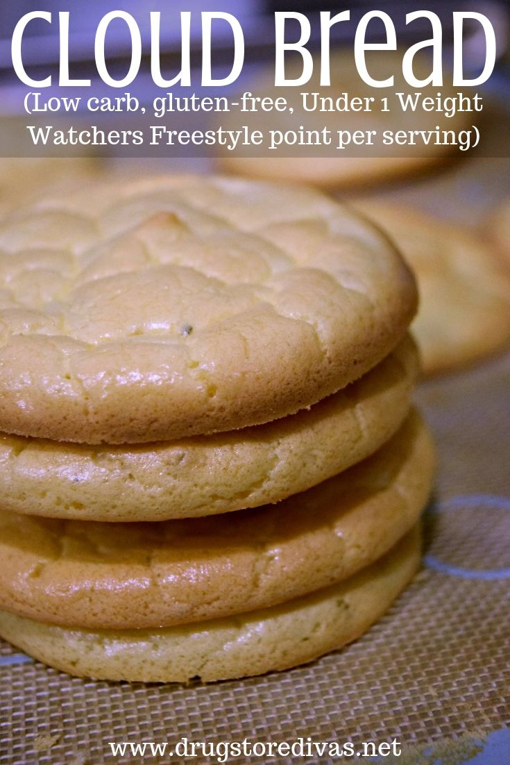 Cloud Bread (Low carb, gluten-free, under 1 Weight Watchers Freestyle point per serving