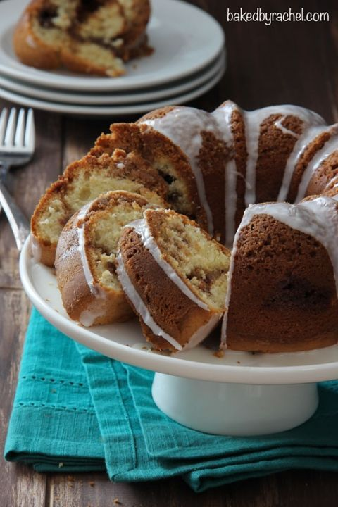 Cinnamon Streusel Coffee Bundt Cake Recipe from @bakedbyrachel