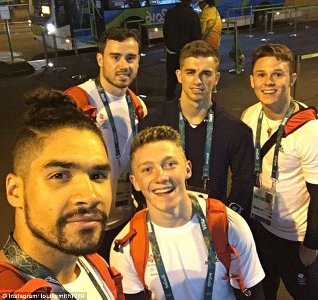 British Olympics 2016 artistic gymnastics team: Louis Smith, Kristian Thomas, Nile Wilson, Matt Whitlock and Brinn Bevan