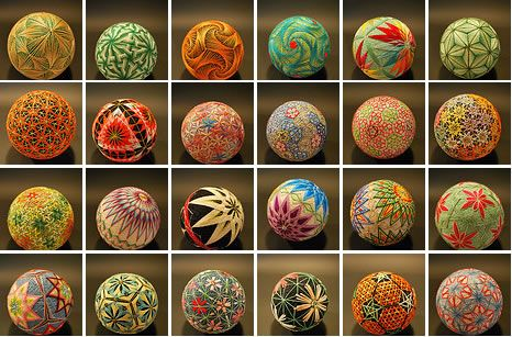 Temari. Japanese thread balls