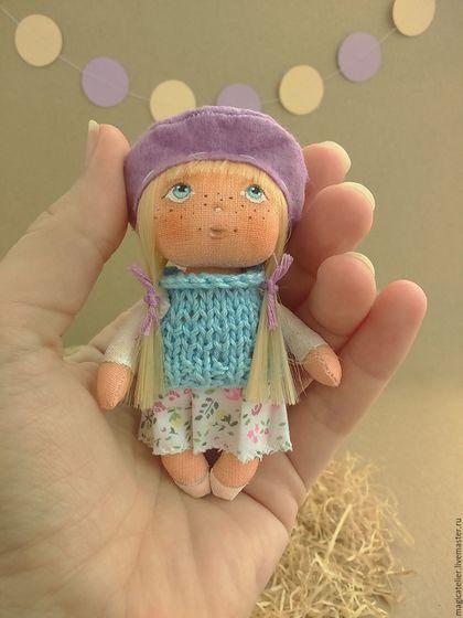 Коллекционные куклы ручной работы. Ярмарка Мастеров - ручная работа. Купить Крошка-брошка Софи. Handmade. Сиреневый, крошка