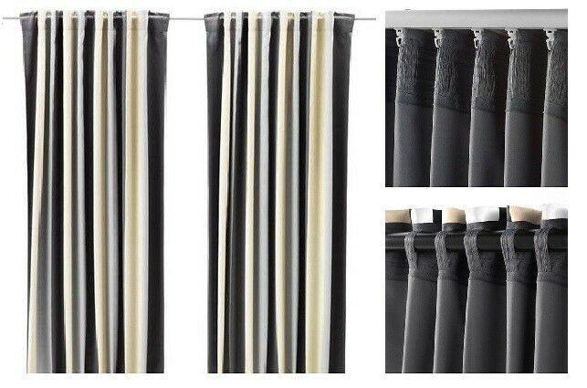 Ebay Sponsored Ikea Praktlilja Gray Charcoal Tan Wide Stripe