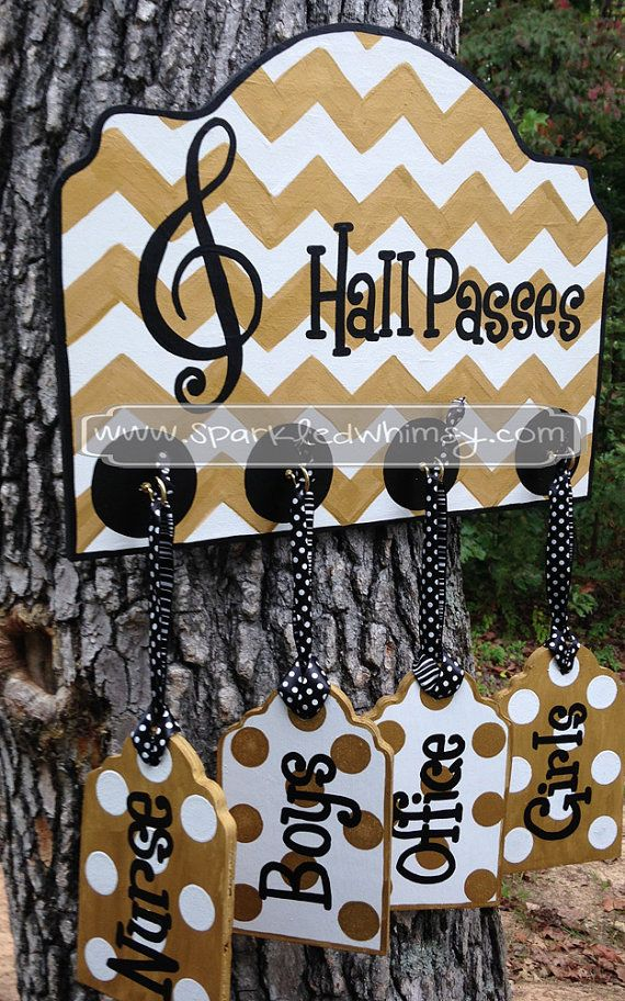Hall Passes Sign for Classroom
