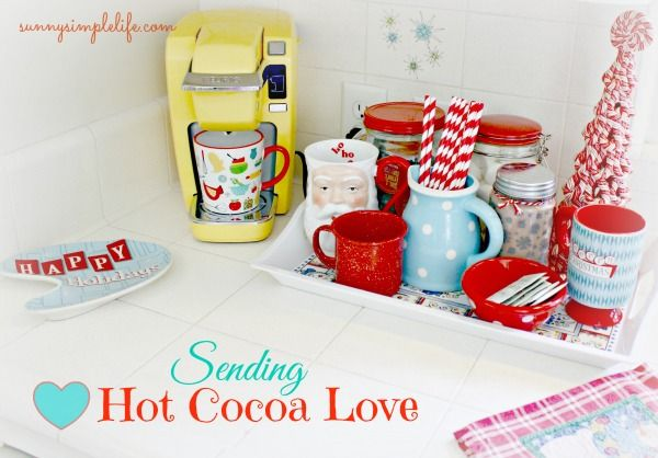 Our Hot Drink Station - Sending Hot Cocoa Love