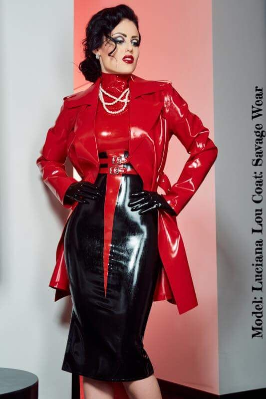 Pvc latex rubber clothings